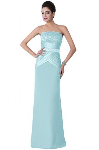 Sunvary classica elasticizzata, colonna senza Wedding Guest vestiti Pageant vestiti Light Sky Blue