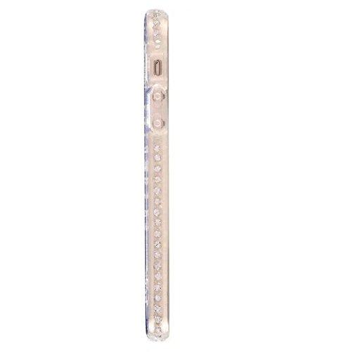 EKINHUI Case Cover Bling Sparkle Glitter Rhinestone Resin Diamant Schützende Rückseite Cover Case Soft TPU Shell Stoßfänger [Shock Absorbtion] für iPhone 5s & SE ( Color : F ) A