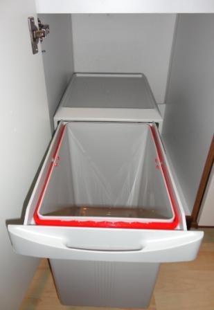 Einbau Abfalleimer Küche | Kuchen Einbau Abfalleimer Virtus 1 1x 16 Liter Handauszug
