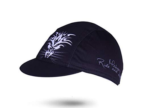 DUBAOBAO Fahrrad-Radkappe - Sommer Atmungsaktive Sonnenschutz Mountain Road Für Männer und Frauen - Polyester Jersey Cap (Schwarz)