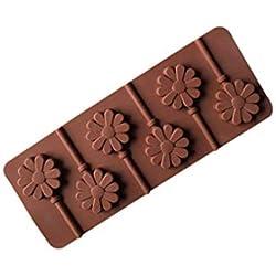 Topker 6 Rejas Bricolaje Donut Animal Garra Cara de la Sonrisa de la Margarita Lollipop del Molde del Chocolate Molde del Caramelo Postre de Silicona
