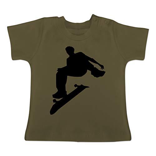 Sport Baby - Skater - 3/6 Monate - Olivgrün - BZ02 - Baby T-Shirt Kurzarm