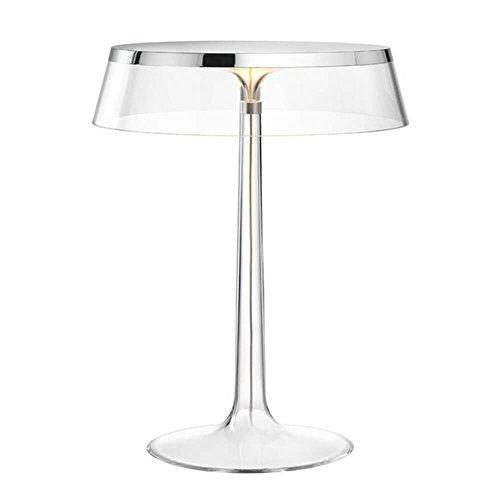 Flos Bon Jour Lampe de table avec structure chrome et abat-jour transparente 220 Volt