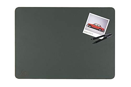 Centaur Schreibtischunterlagen 50x70 cm handgefertigt in Deutschland Schreibunterlage aus Leder Ecken abgerundet rutschfest grün flaschengrün weitere Farben & Größen