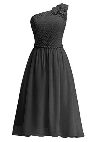KekeHouse® Une épaule Robe Courte de Cérémonie Soirée Demoiselle d'honneur Femme Fille d'été Sans Manches Navy Bleu