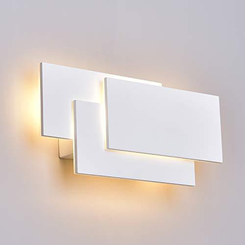 ZUZITO LED Wandleuchte Innen Modern Wandlampe 12W weiß Innen Wohnzimmer Schlafzimmer Wand Dekor Wandhalterung Beleuchtung Lampe