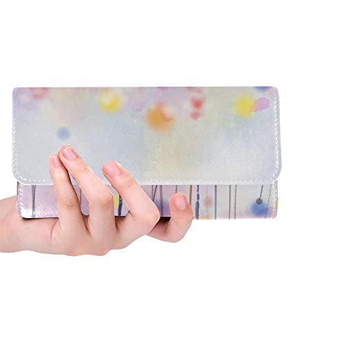 Einzigartige benutzerdefinierte abstrakte Blumenbilder Blumen weiche Frauen Trifold Brieftasche Lange Geldbörse Kreditkarteninhaber Fall Handtasche -