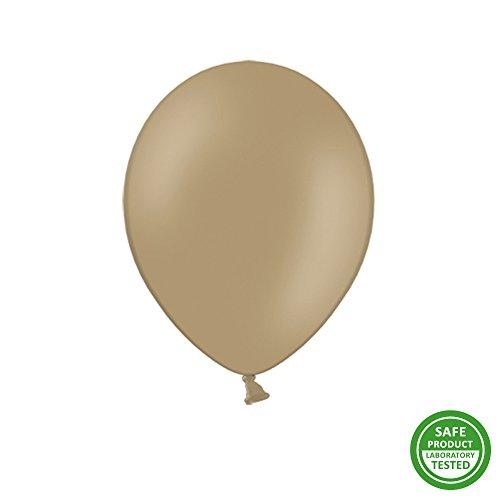 50 Luftballons 30 cm Cappuccino - Heliumballons Ballons Luftballon Ballon Helium EU Produkt!
