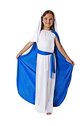 Mädchen Jungfrau Kostüm Maria - Costumizate! Jungfrau Maria Kostüm für Mädchen Verschiedene Größen speziell für Weihnachten