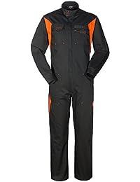 56344f55d85ee SILVERSTONE Tuta Lavoro Nero e Arancione Collo Coreana X Meccanici Gommista  A40129
