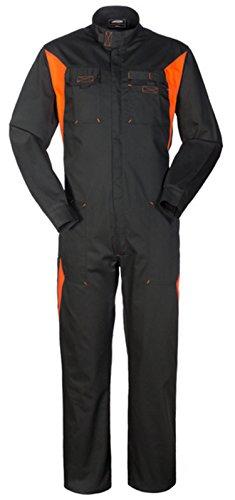 SILVERSTONE Tuta Lavoro Nero e Arancione Collo Coreana X Meccanici Gommista A40129 (XXXL)