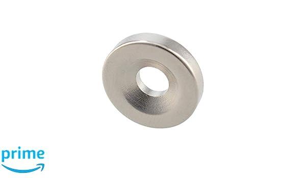 Ferrestock DC006 Runde Neodym-Magnete mit 6 mm Bohrung 18 x 4 mm 10 St/ück