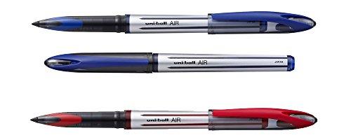Confezione di 2penne, 1 Uni Ball Roller Air Blu + 1Uni Ball Roller Air Rossa