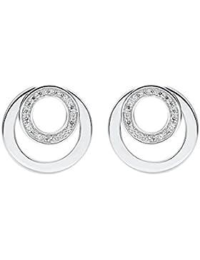 JETTE Silver Damen-Ohrstecker 925er Silber 38 Zirkonia One Size, silber