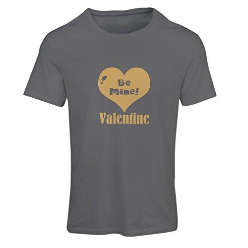 """Frauen T-Shirt """"Be my Valentine, lieben Sie zitiert"""", große St. Valentinstag Geschenke Graphit Gold"""