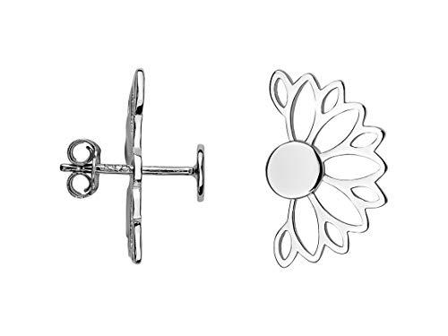 SOFIA MILANI Damen Ohrringe Ohrstecker Lotus Blume Silber 20631