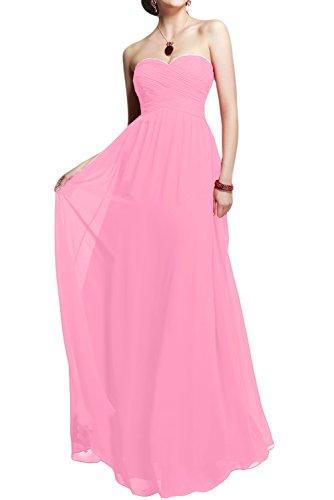 Toscane forme de mariée simple chiffon abendkleider-les demoiselles d'honneur party ballkleider ladies'fashion Rose
