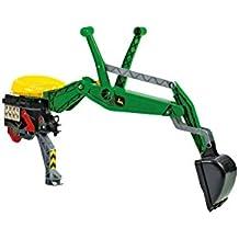 Rolly Toys 409358 - Veicolo a Pedali John Deere, Escavatore Posteriore, con Fermo
