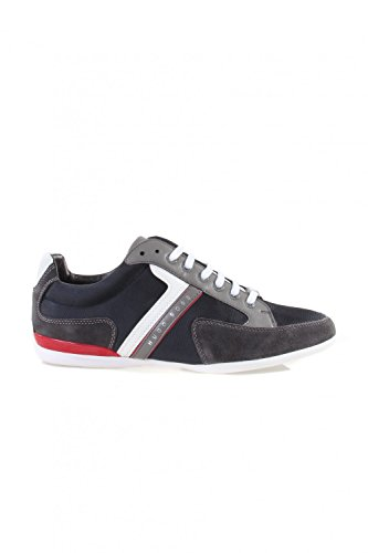 BOSS Green Spacit 10167195 01, Sneakers Basses Homme Bleu / Rouge