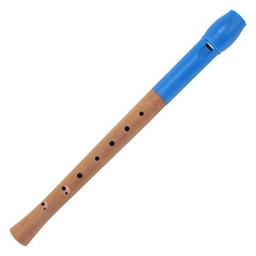 Classic Cantabile Pivella C-Sopran Blockflöte - Aus Ahornholz mit Kopf aus Kunststoff, dadurch ideal für Einsteiger - Barocke Griffweise - Inkl. Etui, Grifftabelle, Wischerstab und Korkfett - Blau