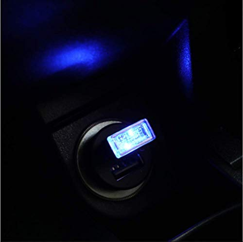 Blau USB Nachtlicht LED Auto Innenraum Atmosphäre Licht Füße Lampe Beleuchtung Dekoration Licht Nachtlampe (Auto Blau Led-leuchten Innenraum)