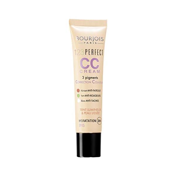 Bourjois – 123 Perfect CC Cream, crema correctora con color, tono light beige