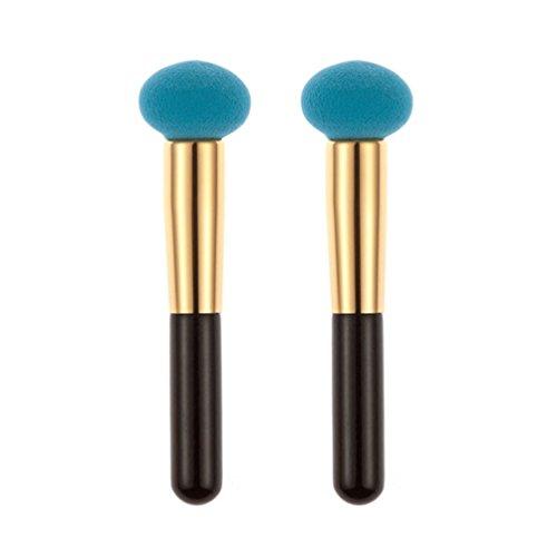 timesong 2 Bleu Fil houppette maquillage visage fond de teint maquillage éponges cosmétiques sopnge Puffs