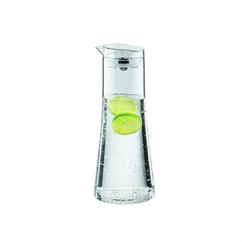 Bodum Bistro Wasserkaraffe mit hermetischer Kugelkappe, Glas, Transparent, 11 x 11 x 25.5 cm