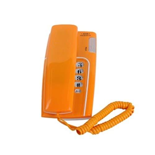 ZHY Handy for ältere Menschen - Hörgeschädigtes Telefon - orange - weiße Wandhalterung (Color : Orange)
