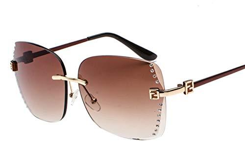Hemio Sonnenbrille Damen Sonnenbrillen Moda Farbfilm Outdoor-Brille Randlos Sunglasses Vintage Eyewear Ideal Radbrille Rechteckig