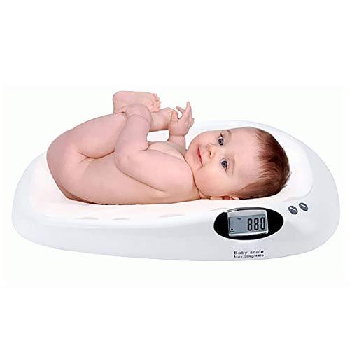 Personenwaagen Elektronische Babywaage Digital High Precision Baby Wiegen Badezimmerwaage Sicherheit Hintergrundbeleuchtetes Display Multifunktions 20kg Kapazität Weiß
