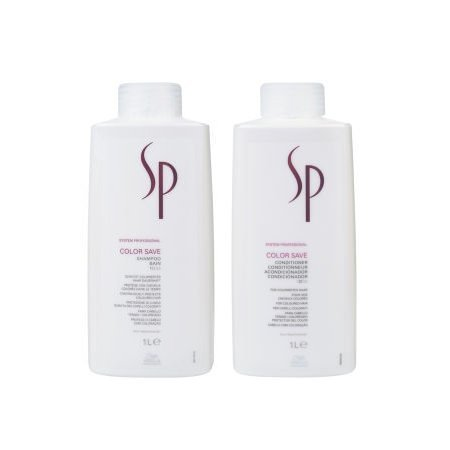 Wella SP Color Save Shampoo 1000ml and Conditioner 1000ml by Wella SP