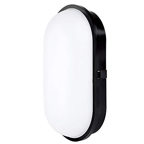 Lámpara LED para Pared Luz Nocturna LED Ovalado 20W 3000K IP65 de Luz Suave para Interiores Exteriores...
