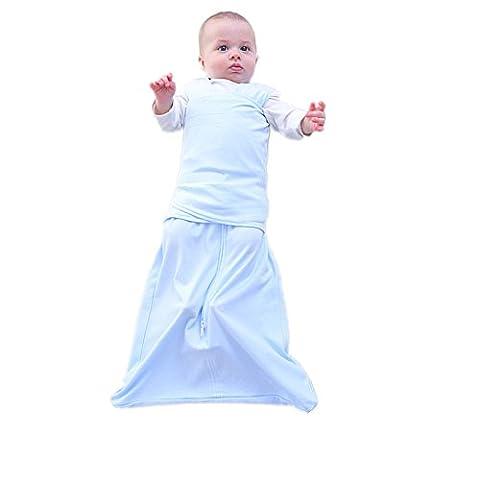 Comfortablebaby Sleepsack Coton nouveau-né d'emmaillotage gratuit Taille bleu bleu