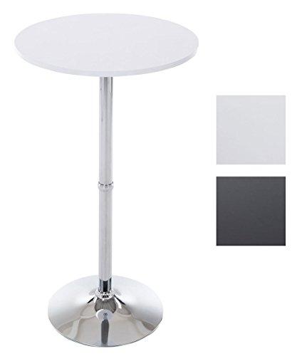 CLP Metall-Stehtisch mit runder Holztischplatte   Bartisch mit einem Durchmesser von: Ø 60 cm und einer Höhe von: 110 cm   In verschiedenen Farben erhältlich Weiß