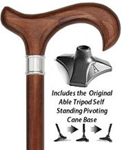 royal-canes-dr-gregory-houses-walnut-stained-beechwood-derby-cane-stainless-steel-collar-abl-by-roya