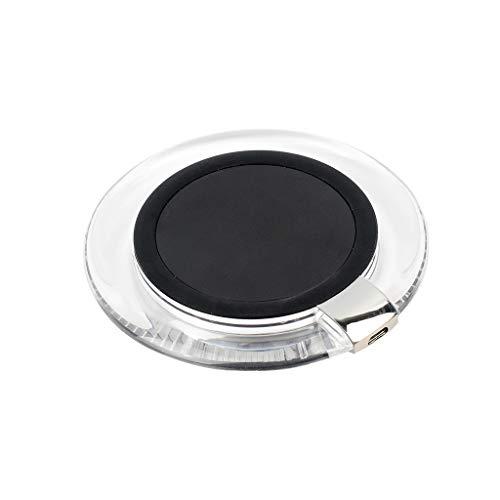 Nourich Ladegerät Qi, Ladegerät Drahtlose Ladegeräte, 73% Schnellladegerät für Samsung Galaxy S10 / S9 / S8 / S7, iPhone XR/XS/Max / 8 / X und alle Qi Fähige Geräte