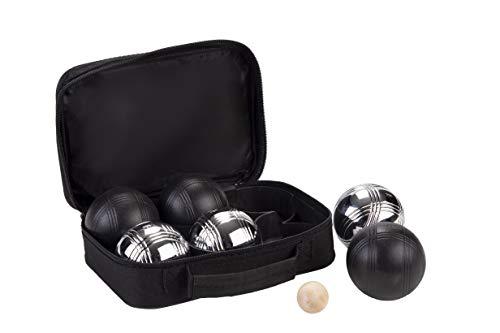 Weiblespiele 010207 - Boules-Set, 6-teilig, schwarz/Silber