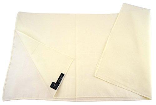 TigerTie Damen Nickituch Halstuch in creme elfenbein einfarbig Uni - Tuchgröße 60 x 60 cm - 100% Baumwolle -