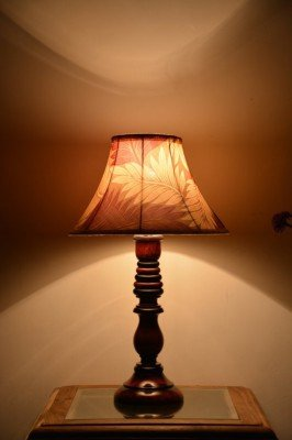 Yashasvi Wooden Table Lamp - LAMP00I15 (Multi-Colour)