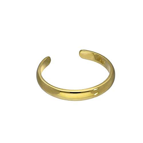 9K Gold Einstellbarer Zehenring