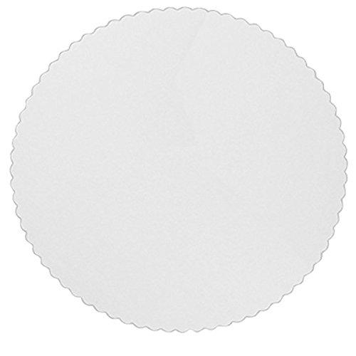 Preisvergleich Produktbild Tortenunterlagen 28 cm weiß rund,  PE-beschichtet