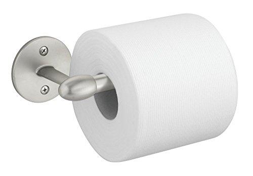 mDesign bagno-Porta rotolo di carta igienica, montaggio a parete, finitura satinata
