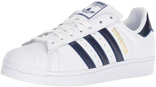 Adidas – Scarpe da Ginnastica Superstar Foundation J Scarpe, Bianco (White/Collegiate Royal/Gold Metallic), 40 EU