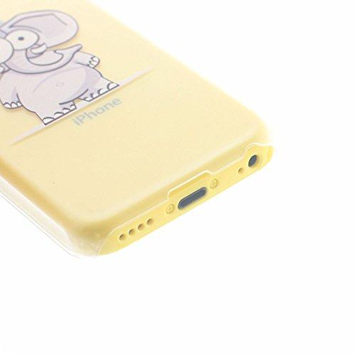 MOONCASE Etui pour Apple iPhone 5C Hard Housse Coque Case Etui Cover Shell X08 X02 #1214