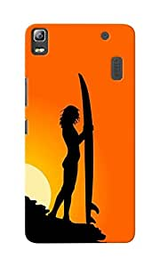 KnapCase Surfer Designer 3D Printed Case Cover For Lenovo K3 Note