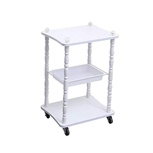 Cart Assembly (ZAY 3 Ebenen Weiß Utility Carts, Beauty Salon Barbershop Dedicated Instrument Assembly Trolley mit Universal Wheel (Color : White))