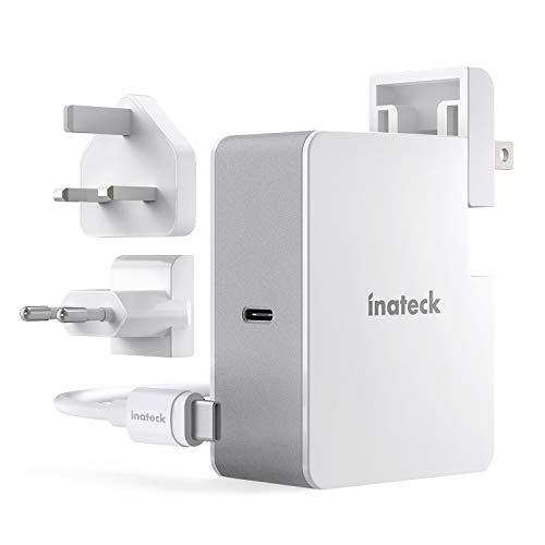 Inateck - Caricatore USB C da 45 W con cavo USB C da 2 m, Power Delivery Type C, per laptop e molti altri dispositivi USB C, colore: Bianco