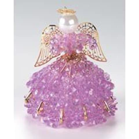 Birthstone Angel Ornament Bead Kit - June Alexandrine by CraftKitsAndSupplies