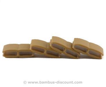 Mattenverbinder für Kunststoffmatten, bambus farbig von bambus-discount.com - Du und dein Garten